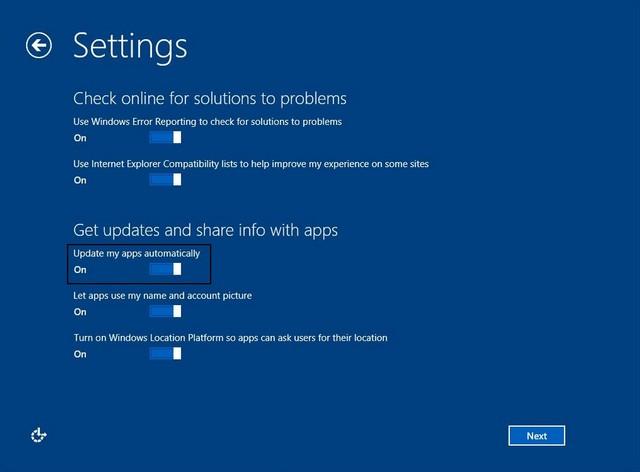 Semua Aplikasi Windows Blue Bisa Diupdate Secara Otomatis