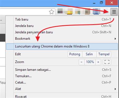 Cara Menjadikan Chrome Sebagai Aplikasi Windows 8
