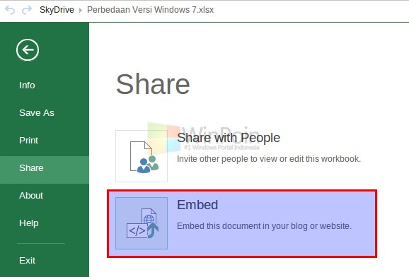 Cara Embed Dokumen Microsoft Office di Website/Blog