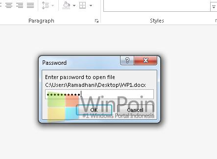 Cara Mudah Memberi Password di Dokumen Word 2013