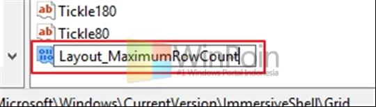 Cara Merubah Jumlah Baris Pada Tile Start Screen di Windows 8