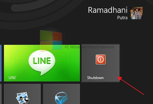 Cara Cepat Membuat Shortcut Shutdown di Windows 8