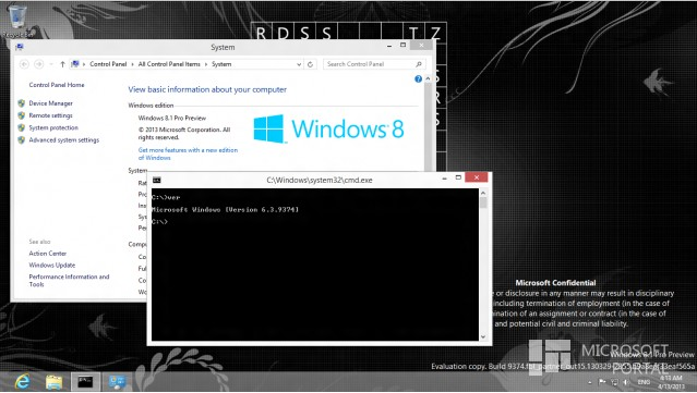 Screenshot Windows 8.1 (Blue) Build 9374 Beredar Lagi