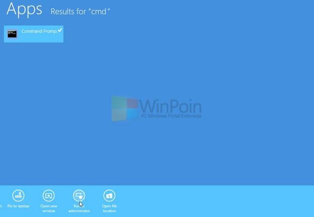 Cara Membuka Command Prompt sebagai Admin di Windows 8