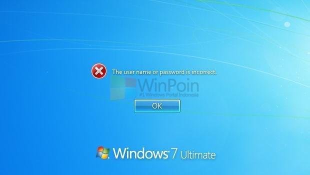 Cara Reset Password Windows 7 atau Windows Vista