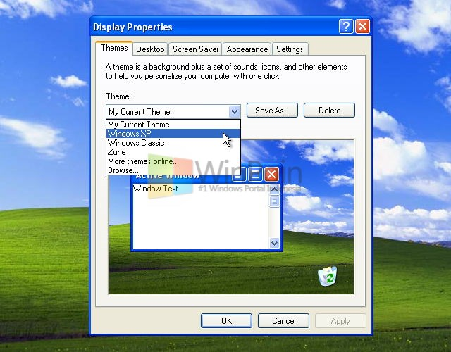 Tutorial Lengkap Cara Mengganti Theme Windows XP