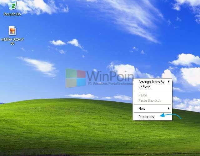 Cara Mengganti Wallpaper Windows XP