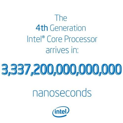 Intel Merilis Chip Haswell pada 3.337.200.000.000.000 Nanodetik