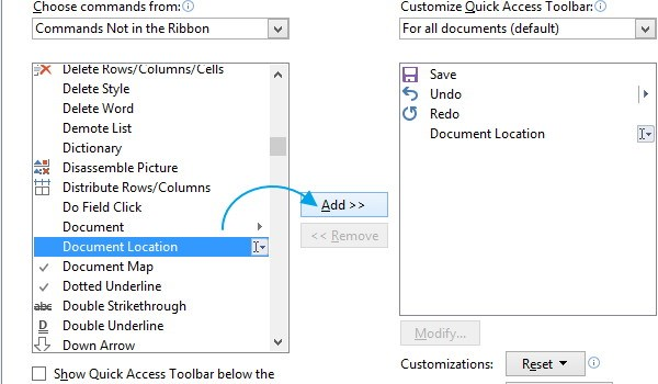 Cara Menambahkan Lokasi Dokumen Pada Toolbar Di Office Word 2013