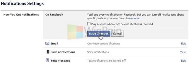 Cara Mematikan Suara Pesan di Facebook