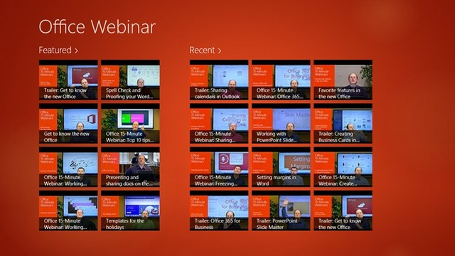 Download Office Webinar untuk Windows 8