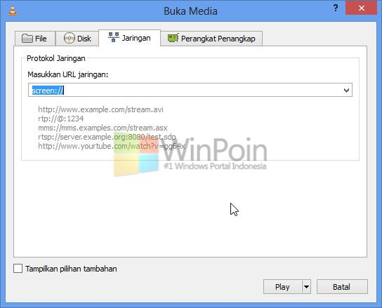 Cara Streaming Desktop Lewat VLC
