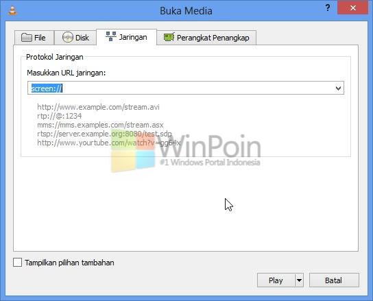 Cara Streaming Desktop Lewat VLC