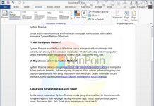Cara Memberi Watermark Sebuah Dokumen Pada Word 2013