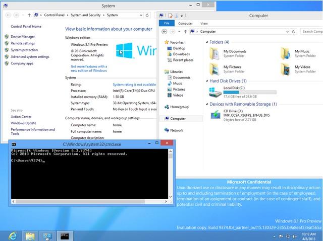 Screenshot Windows 8.1 (Blue) Build 9374 Beredar Luas
