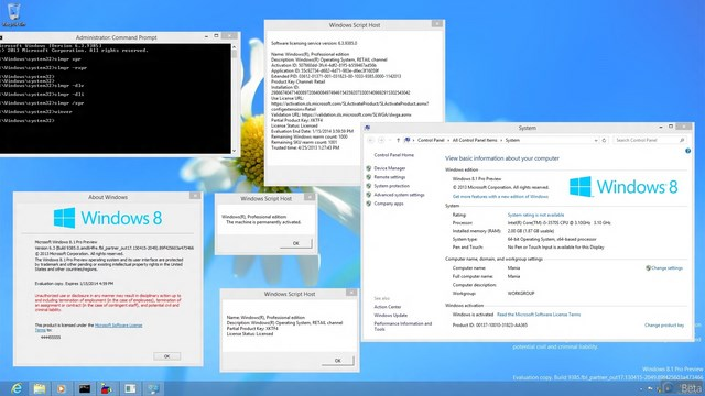 Screenshot Windows 8.1 Build 9385 Telah Bocor