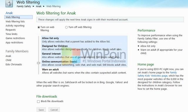 Cara Memantau Anak dalam Menggunakan Komputer Windows 8