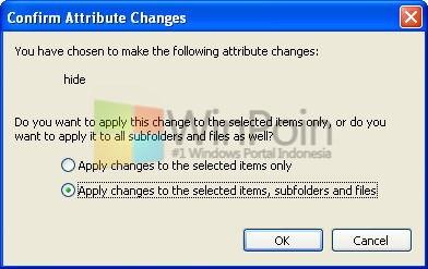 Cara Menyembunyikan File atau Folder di Windows XP
