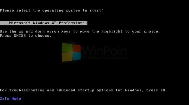 Cara Masuk Safe Mode Windows XP