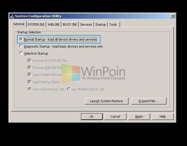 Cara Masuk Safe Mode Windows XP