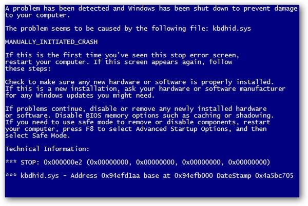 Mengatasi Blue Screen Pada Komputer/Laptop