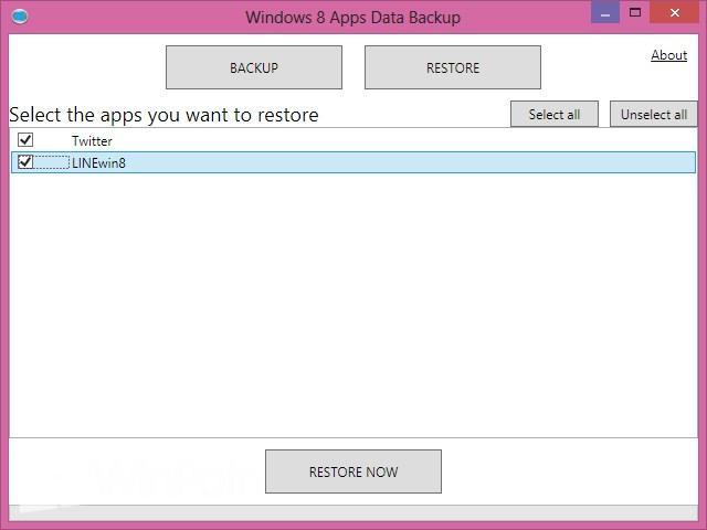 Cara Backup Data Modern Apps Windows 8