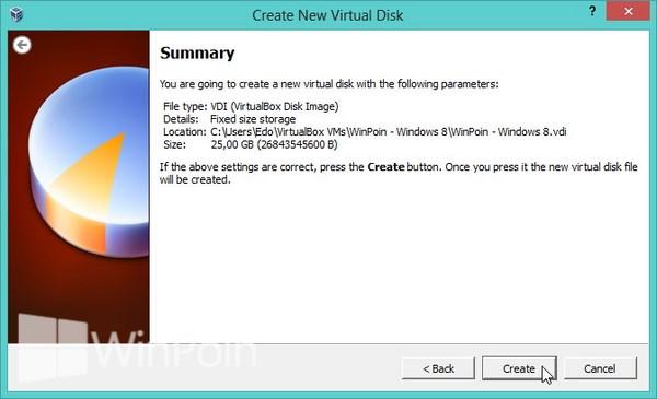 Cara Instal Windows 8 di VirtualBox Bersama Gambar