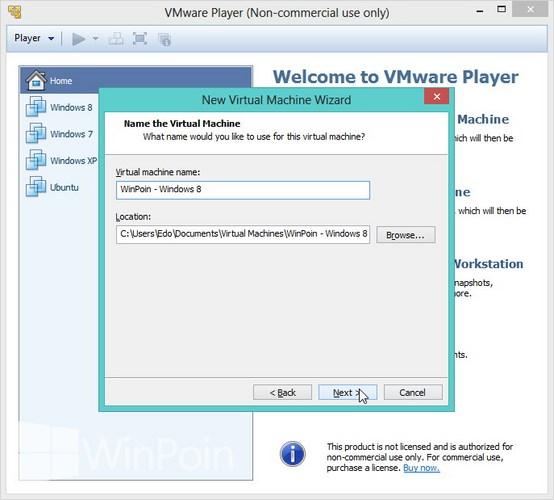 Cara Instal Windows 8 di VMware Player Beserta Gambar
