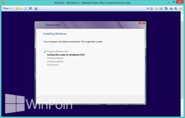 Cara Instal Windows 8 di VMware Player Beserta Gambar