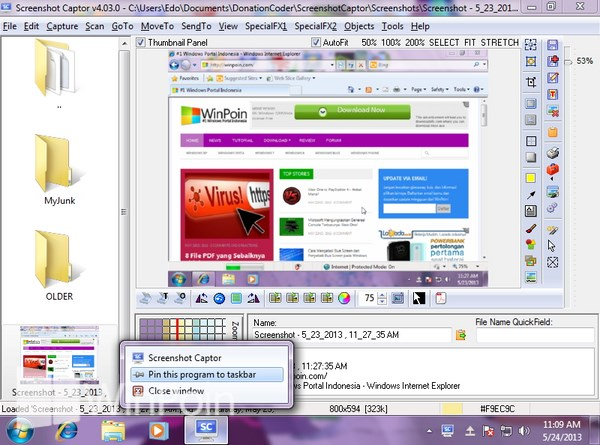 Cara Melakukan Pin File, Folder, Software atau Drive di Windows 7