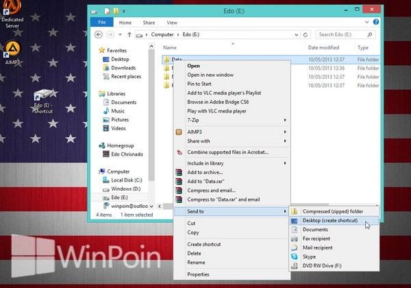 Cara Membuat Shortcut File, Folder atau Software di Windows 7