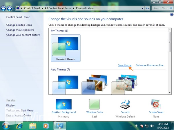 Cara Mengganti Theme Windows 7