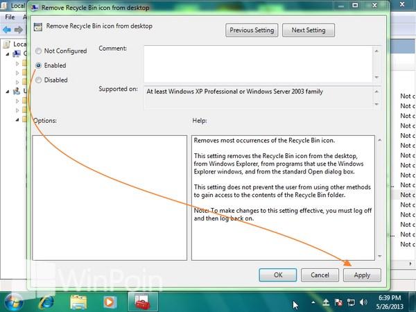 Cara Menghilangkan Recycle Bin di Windows