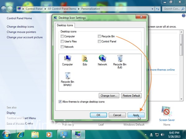 Cara Menghilangkan Recycle Bin di Windows