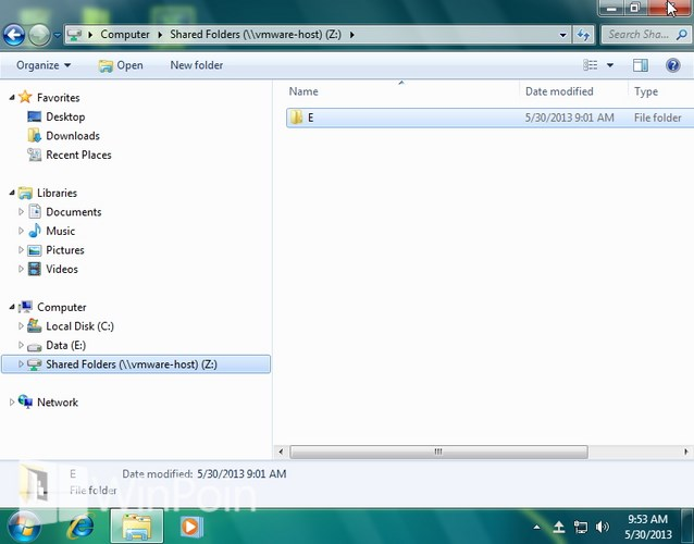 Cara Share Folder dari Windows 7 ke VMware Player