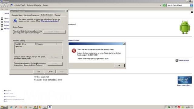 Cara Mengatasi Error System Restore dengan Kode 0x81000203