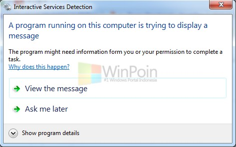 """Cara Mengatasi """"A Program Running on This Computer is Trying to Display a Message"""""""