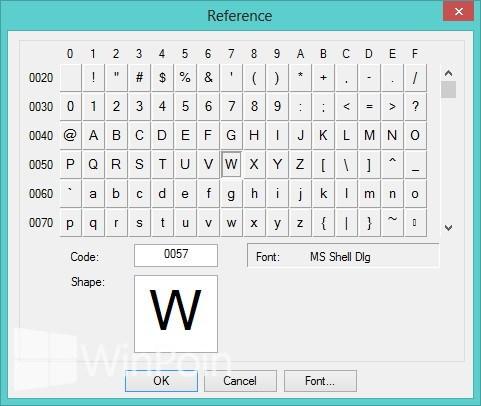 Cara Membuat Font Sendiri Menggunakan Private Character Editor