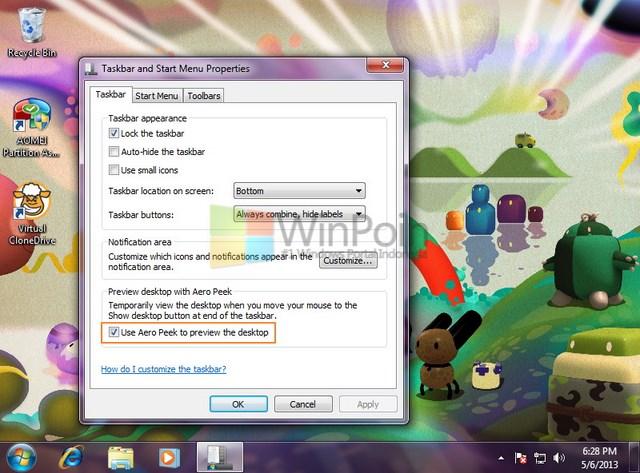 Cara Menggunakan Aero Peek di Windows 7