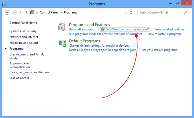Cara Install .NET Framework 3.5 di Windows 8 melalui Control Panel