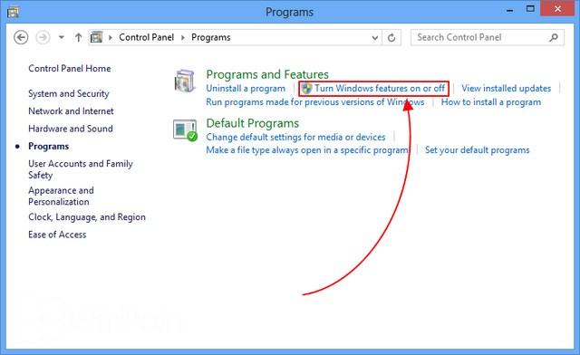 Cara Install .NET Framework 3.5 di Windows 8 melalui Control Panel