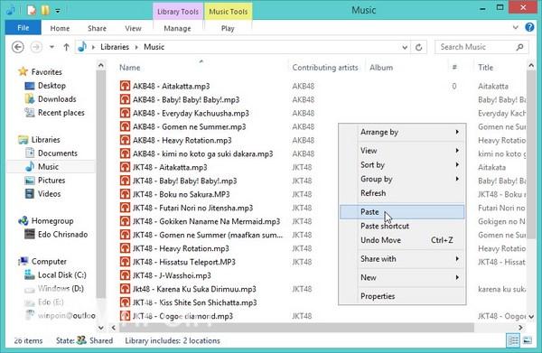 Cara Memainkan Musik di Aplikasi Music Window 8