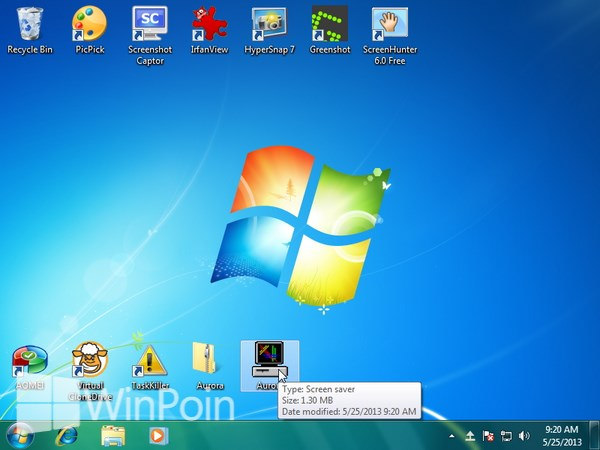 Cara Mengaktifkan Aurora Screensaver Animasi Windows 7