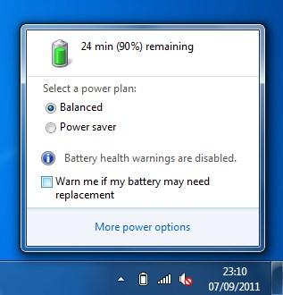Cara Menghilangkan Tanda Silang Merah di Notifikasi Baterai Windows 7