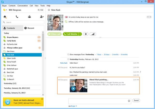 Skype Untuk Windows 7 Sudah di Update Dengan Priview Pesan Video