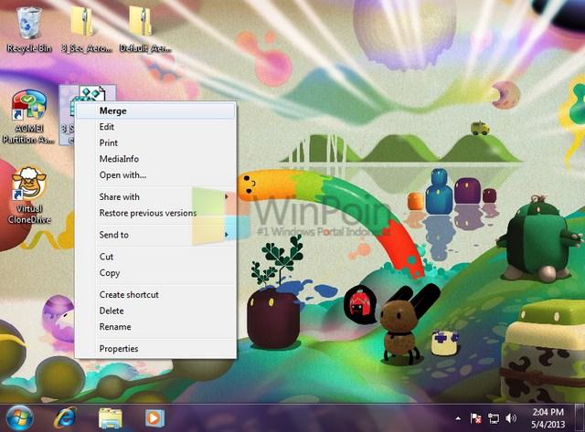 Cara Menambah Waktu Delay Aero Peek Mouse Desktop