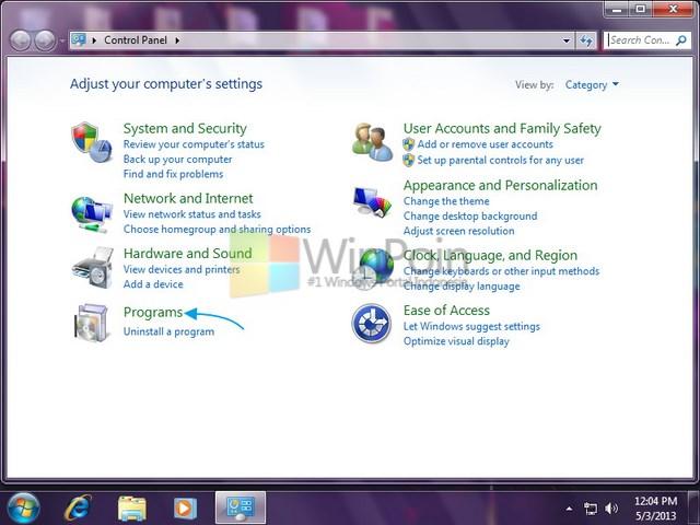 Cara Uninstall Program di Windows 7