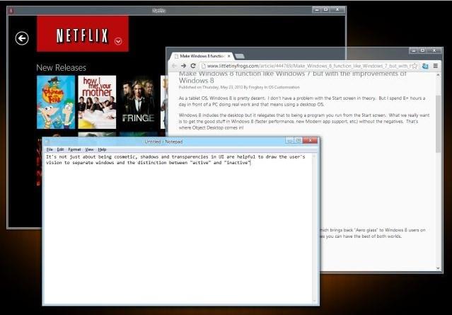 Stardock Akan Merilis WindowBlinds 8 untuk Menambahkan Aero Glass di Windows 8