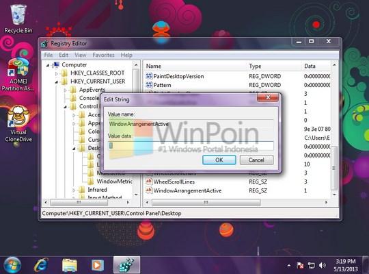 Cara Mengaktifkan dan Mematikan Aero Snap Windows 7
