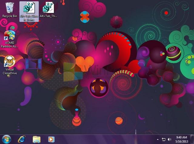 Cara Mengubah Tampilan Icon atau Thumbnail Saat ALT+TAB di Windows 7